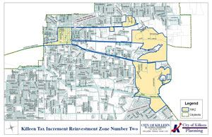 Tax Increment Reinvestment Zone Map